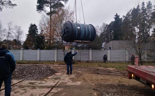 Установка системы вакуумной канализации
